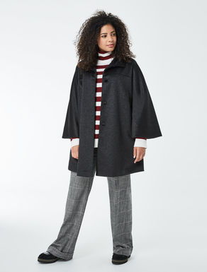 Wool and sable broadcloth coat