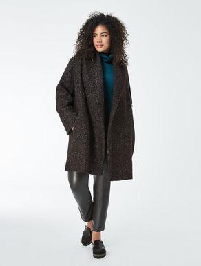 Multicolour bouclé coat