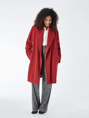 Wool/cashmere beaver cloth coat