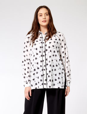 Printed crêpe de chine shirt