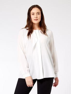 Flounced silk shirt