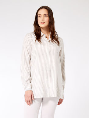 Striped silk poplin shirt