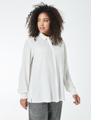 Camisa de crepé de China