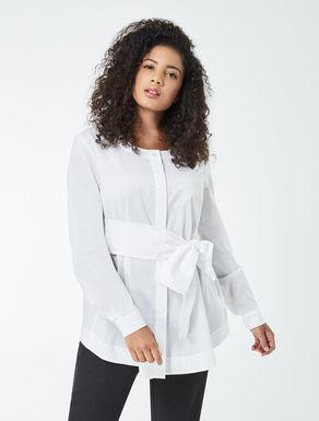 Poplin shirt with sash