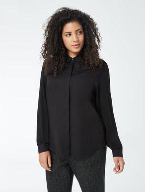 Camisa de popelina y punto