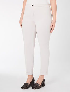 Slim-fit triacetate trousers