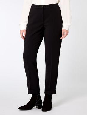 Slim-fit triacetate trousers