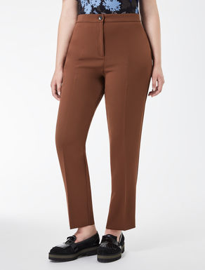 Compact triacetate trousers