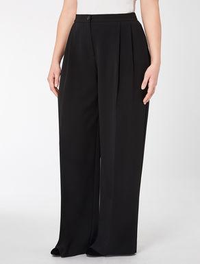 Wide-cut triacetate trousers