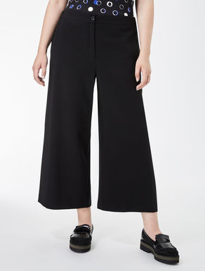 Cropped triacetate trousers