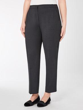Wool crêpe trousers