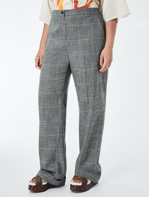 Stretch wool and viscose trousers