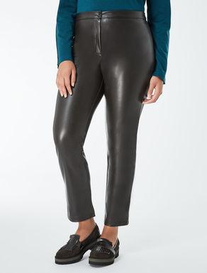 Slim-fit stretch nappa trousers