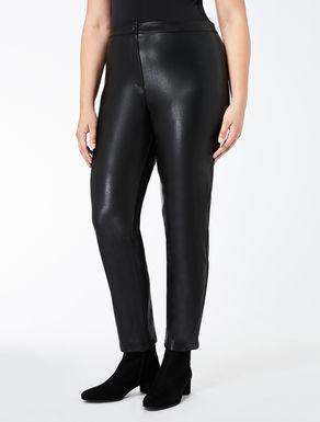 Super-slim faux nappa trousers