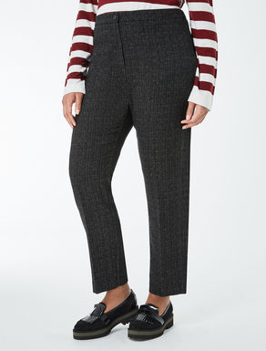 Jacquard slim fit trousers
