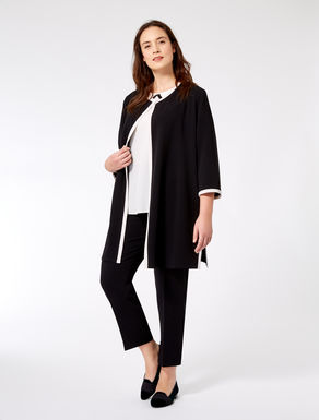 Two-tone triacetate duster coat