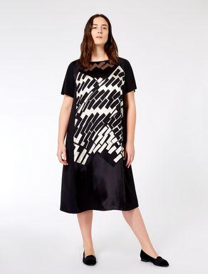 Printed dévoré satin dress