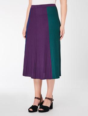Viscose longuette skirt