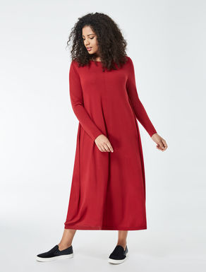 Pure wool long dress