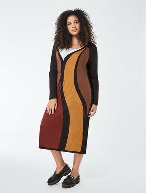 Silk and cashmere dress