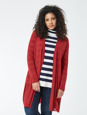 Pure wool long cardigan