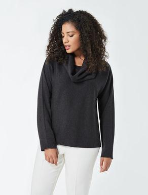 Pure wool boxy sweater