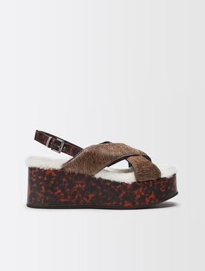 Sandales plateforme en cuir