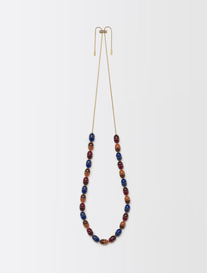 Necklace with multicolour stones