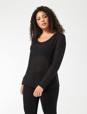 Jersey lace jumper