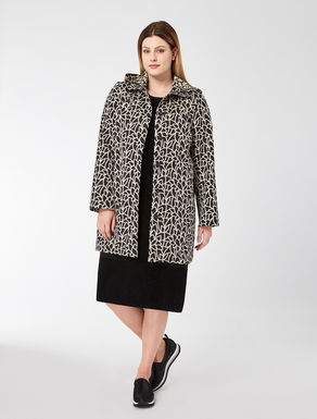 Technical jacquard duster coat