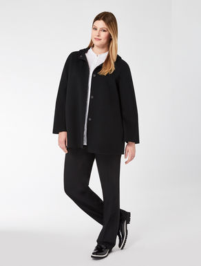 Short double wool coat