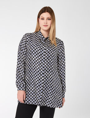 Printed silk twill shirt