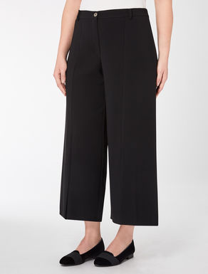 Triacetate trousers with slits