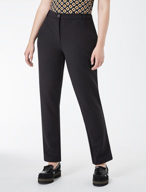 Slim-fit technical fabric trousers
