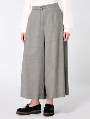 Stretch flannel cropped trousers
