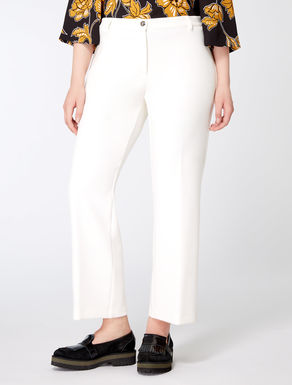 Technical fabric flare trousers