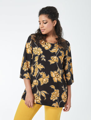 Floral print flowy tunic