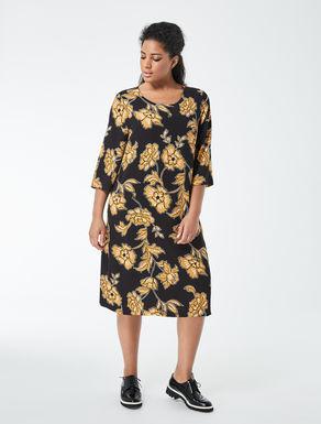 Flower printed A-line dress