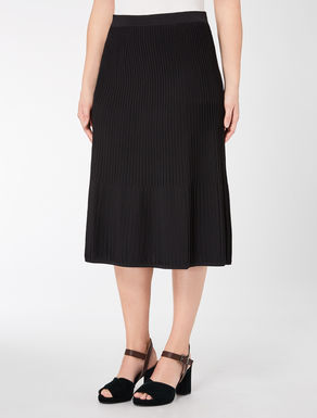 Viscose trapezoid skirt