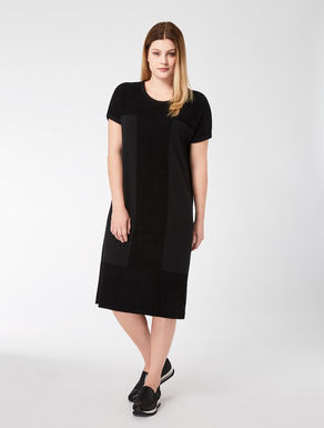 Velvet and wool jacquard dress