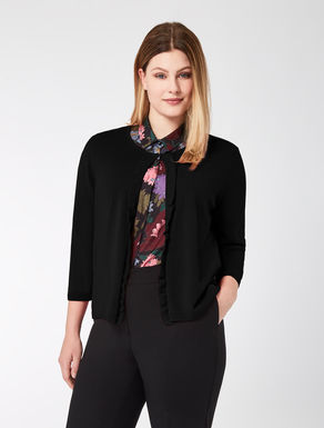 Pure wool cardigan with ruching