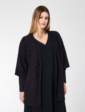Mohair cardigan with sequins