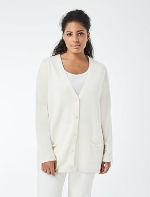 Twinset with knitted cardigan and top