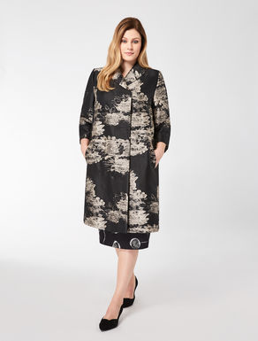Fil coupé jacquard duster coat