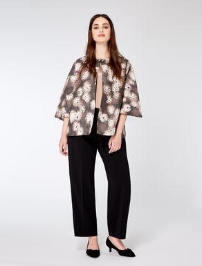 Jacket in printed silk gazar