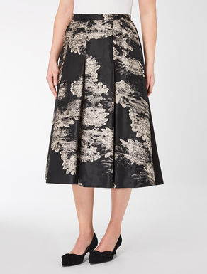 Fil coupé jacquard skirt