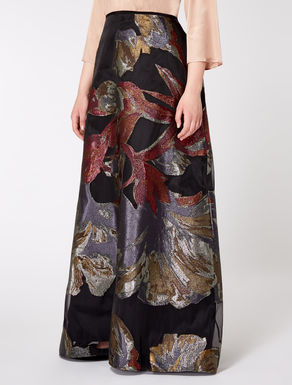 Long skirt in Lurex fil coupé