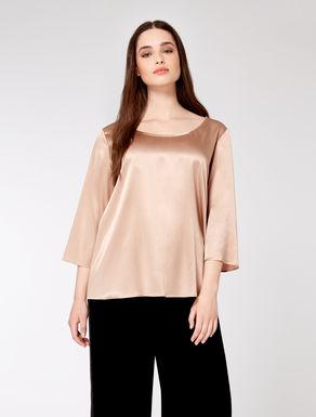 Camisa de raso de seda