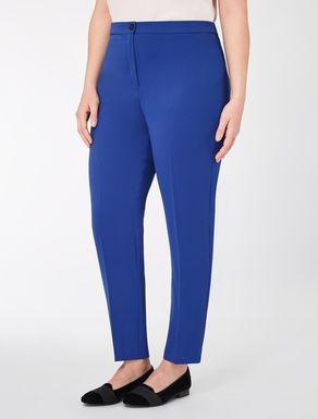 Floaty crêpe slim-fit trousers