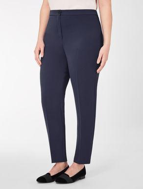 Pantaloni slim in crêpe